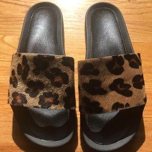 Cheetah ADIDAS slides